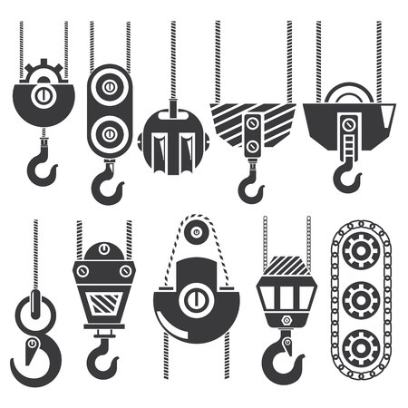 cables: industrial hook, crane Illustration