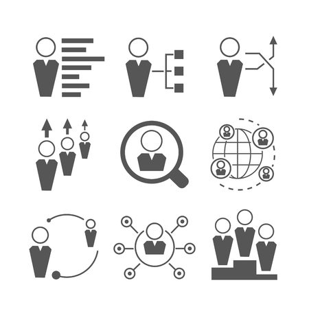 tendance: people network and business management icons