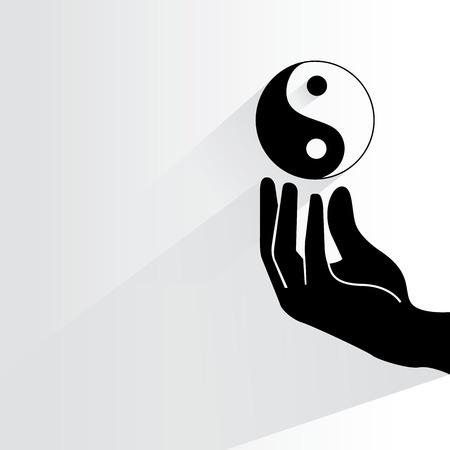 ying yang: yin yang Illustration