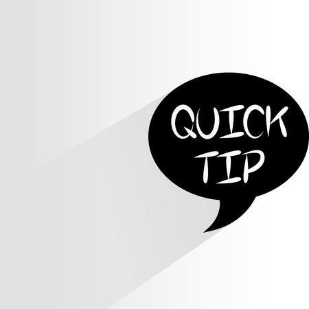 tip to tip: quick tip Illustration