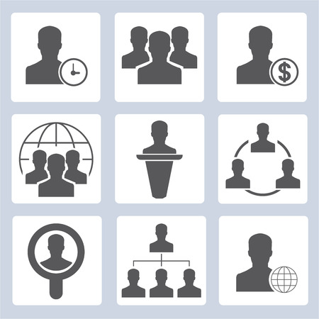 allocate: human resource icons, people management icons