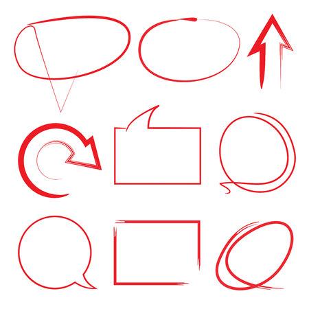 arrows circle: highlighter circle and arrows