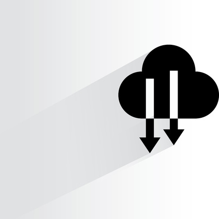 cloud: cloud download Illustration