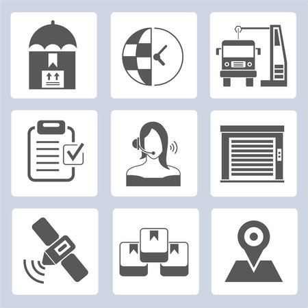 customer service icons, shipping icons