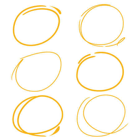 highlighter: marker drawing set, circle highlighter set
