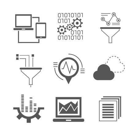 stream: data analytics icons, network icons