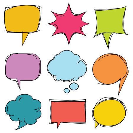 communication: colorful speech bubbles