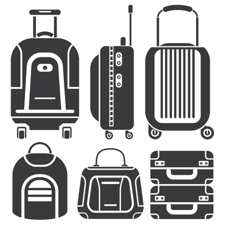 bag icons, travel bags Illustration