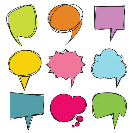 rumor: colorful speech bubbles