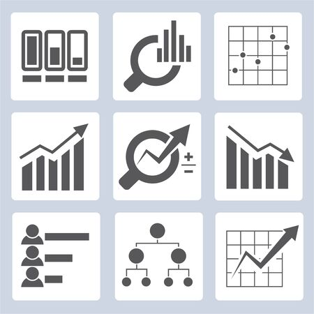 share icon: data graph icons