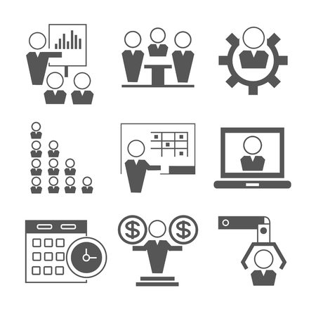 business meeting: business training icons, meeting icons, human resource icons