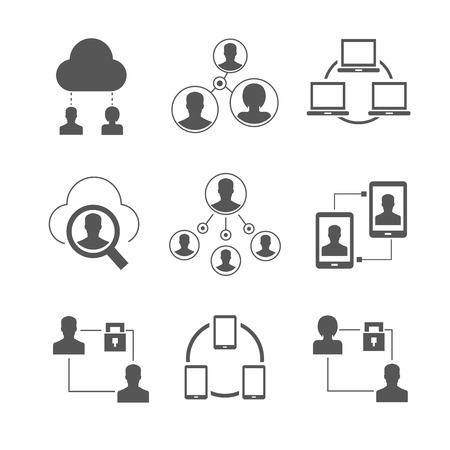 social gathering: social media icons, network icons Illustration