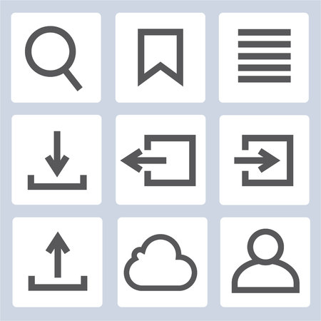 web: login icons, web icons