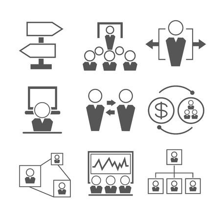 tendance: organization management icons