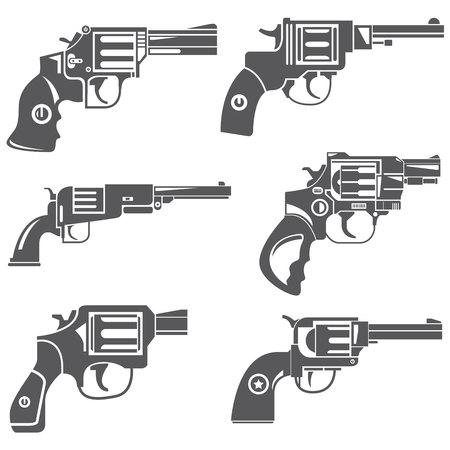 six gun: gun icons, revolver