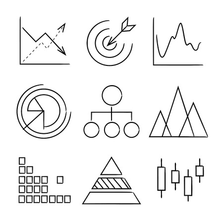 criterion: chart, graph icons Illustration