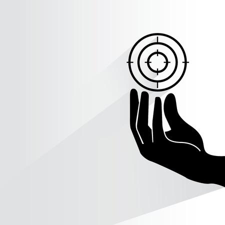 objectivity: target Illustration