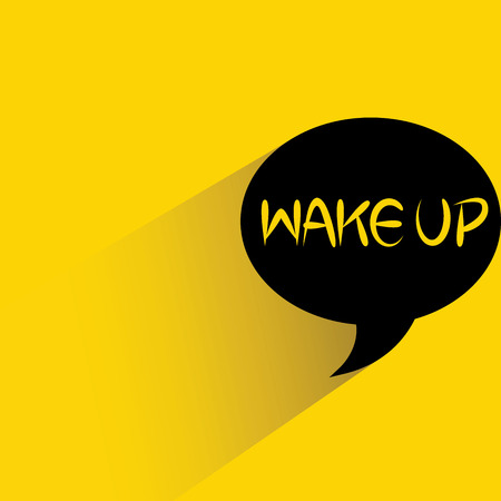 wake up word bubble Çizim