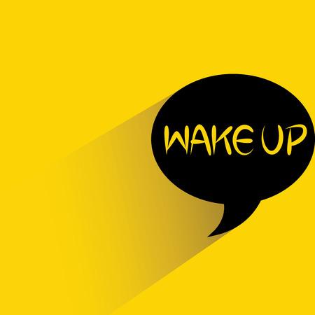 word bubble: wake up word bubble Illustration