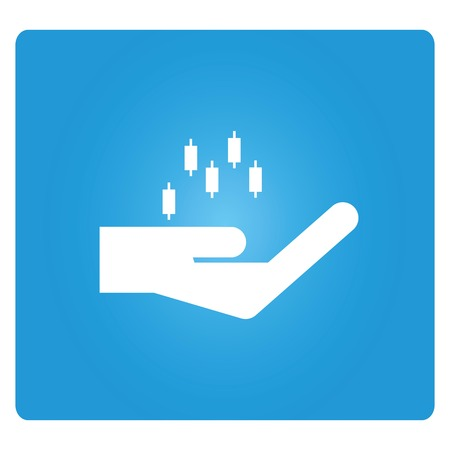 stat: hand holding graph icon