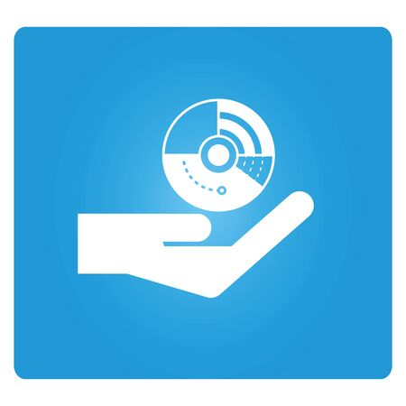pie chart icon: hand holding pie chart icon
