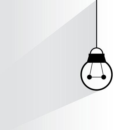 drop ceiling: light bulb Illustration
