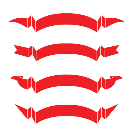 filling line: red ribbons Illustration