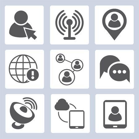sattelite: social media icons
