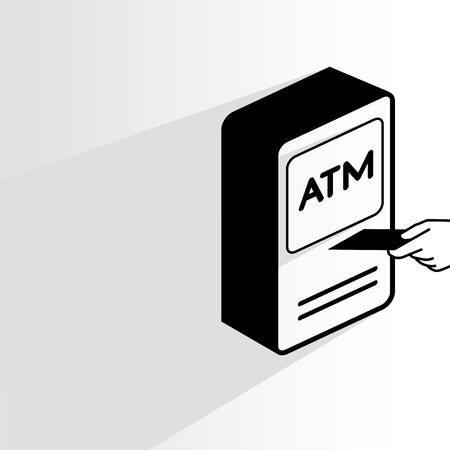 automatic transaction machine: maquina de dinero Vectores
