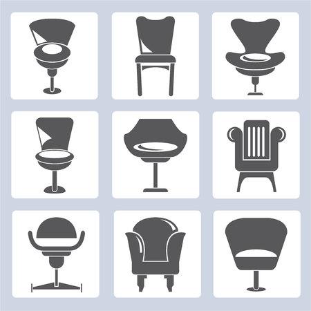sofa: sofa icons Illustration
