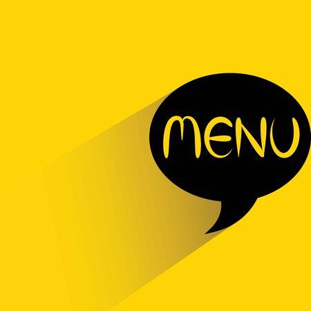 word bubble: menu word bubble Illustration