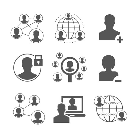 social gathering: social network icons