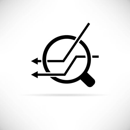 magnifier glass: magnifier glass, analytics icon