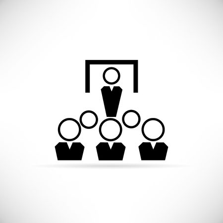business conference: business conference icon Illustration