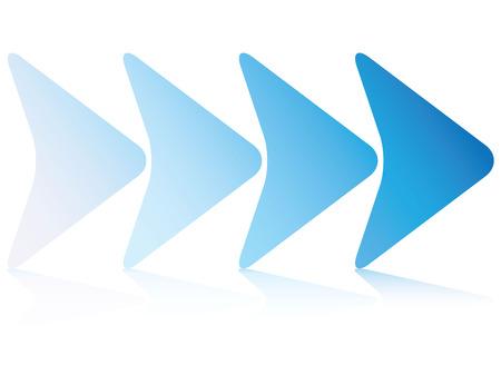 flechas direccion: plantilla de diagrama de infografía