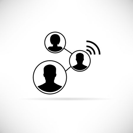 social gathering: social media circle Illustration