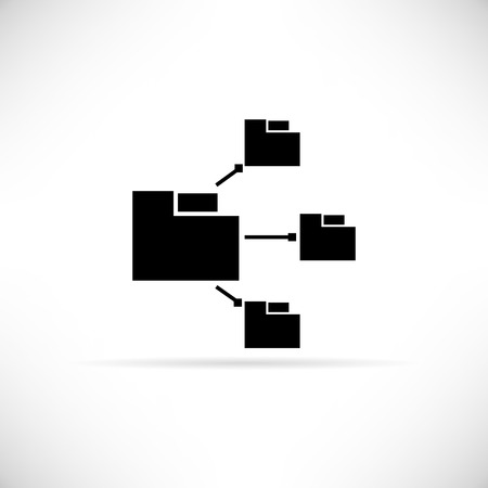 file sharing: file sharing  icon Illustration