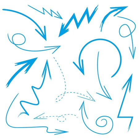 blue design: arrows Illustration