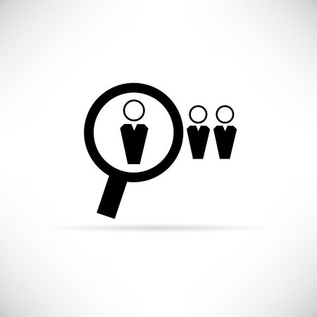 lineup: human search, human resource icon Illustration