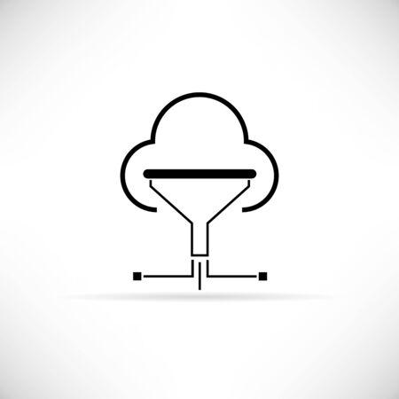 funnel: cloud funnel Illustration