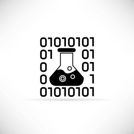 lab test: digital lab, programming development icon