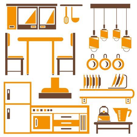 lamp silhouette: kitchen