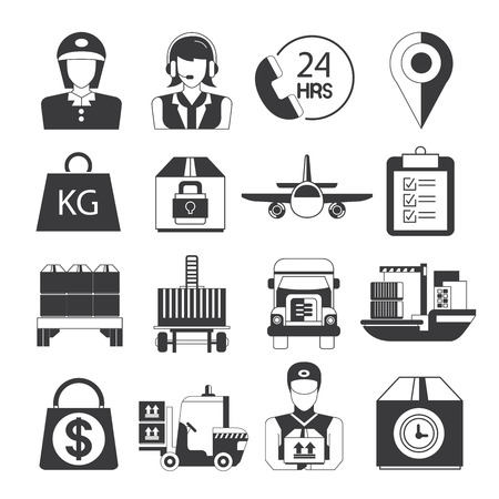 customer service: customer service icons Illustration
