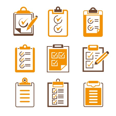 forms: document check list icons
