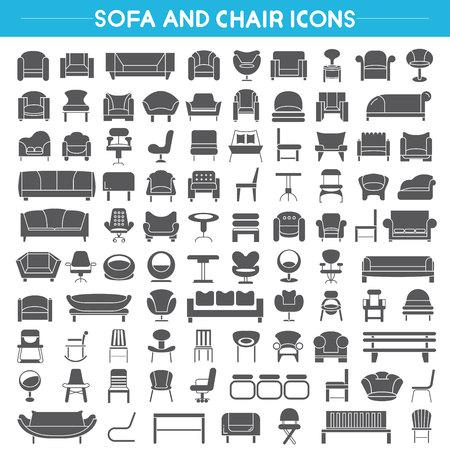 sillon: sofás iconos, iconos, iconos de los muebles silla
