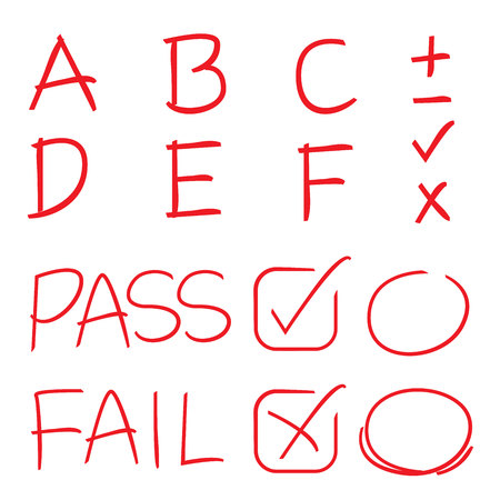 exam: grades results symbols