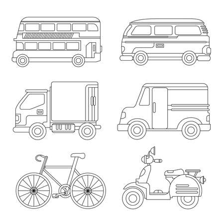 recreational: car icons outline icons