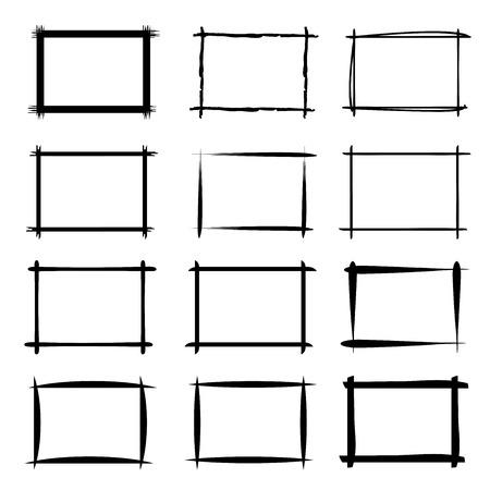 emphasis: hand drawn grunge frames