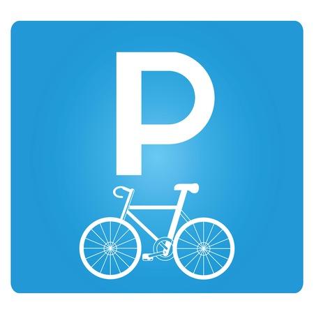 parcheggio per biciclette Vettoriali