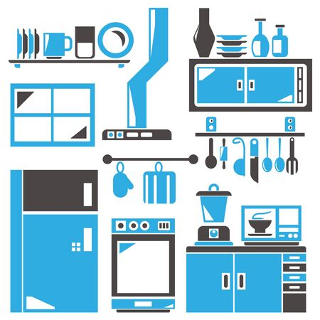 appliance: household appliance, kitchen room Illustration